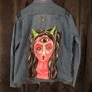 One of a kind hand painted Monster jacket